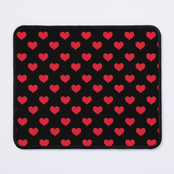 Love 2020 Red and Black - polka loves Mouse Pad