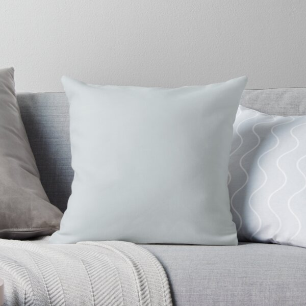 Arctic Pastel Blue Solid Color 2022 Popular - Trending Shade PPG Winter's Breath PPG1038-3 Colour Trends - Popular Hues Throw Pillow
