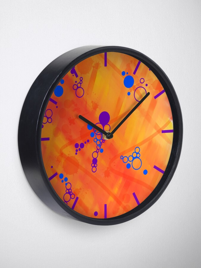 Alternate view of Paradise Waiting Abstract Clock