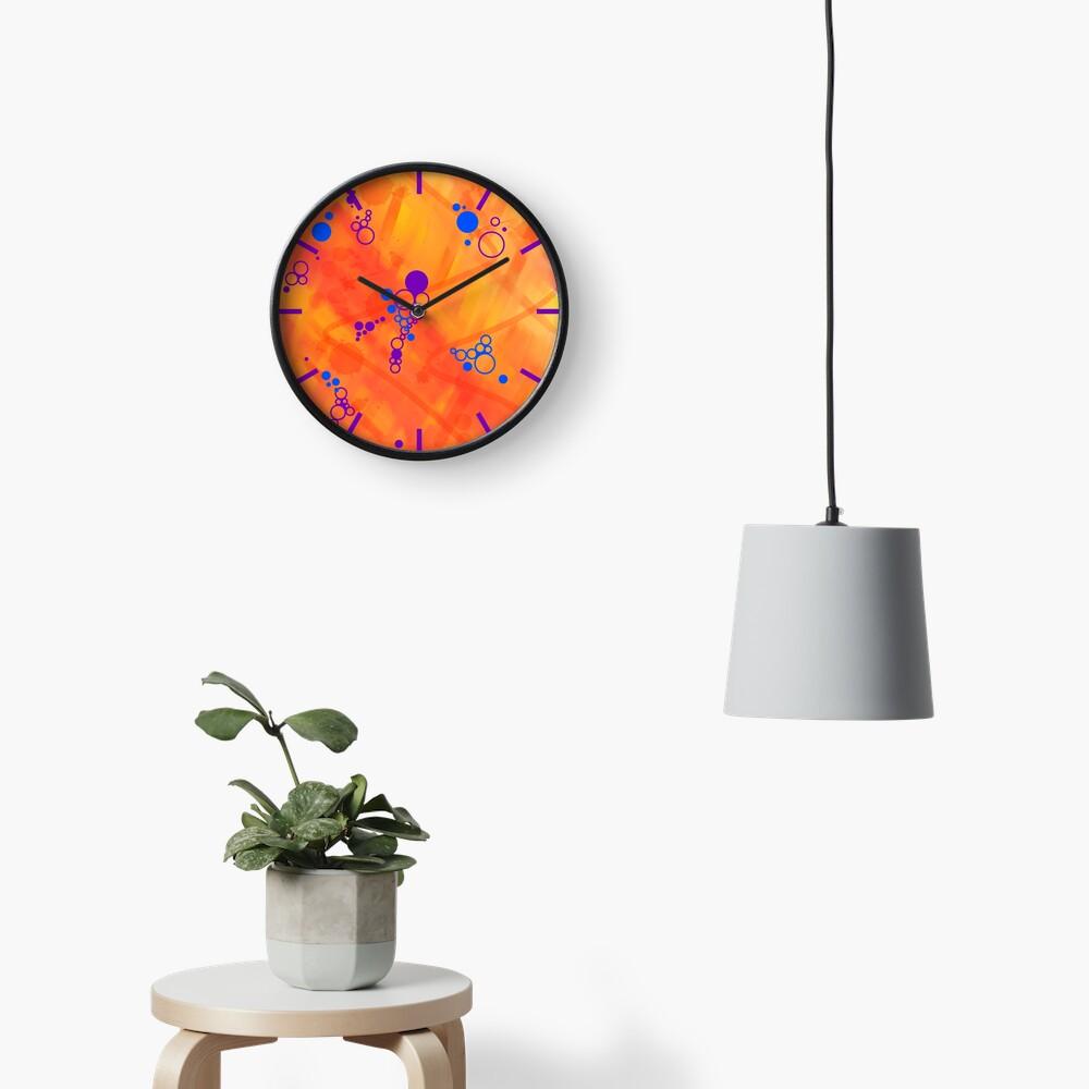 Paradise Waiting Abstract Clock
