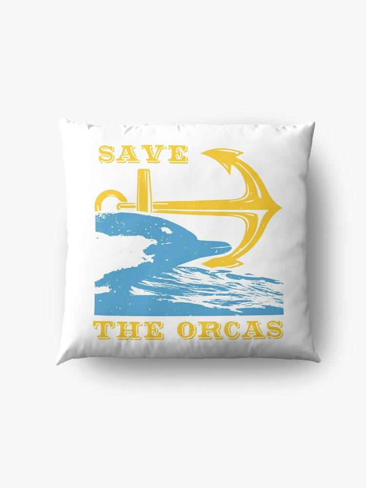 Save the orcas Floor Pillow
