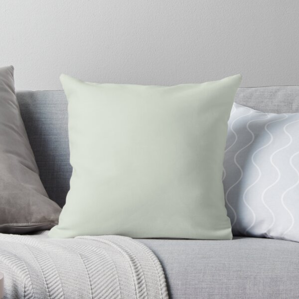 Light Mint Green Solid Color 2022 Popular - Trending Shade PPG Lime Daiquiri PPG1127-1 Colour Trends - Popular Hues Throw Pillow