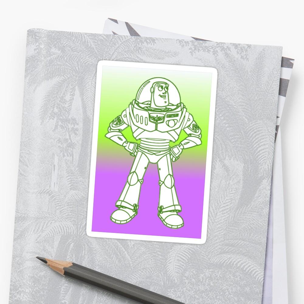 Buzz Lightyear Funky Desing Stickers By Shaz3buzz2 Redbubble