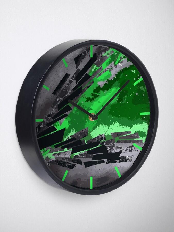 Alternate view of Hope in Green - Vinyl Record Art Clock