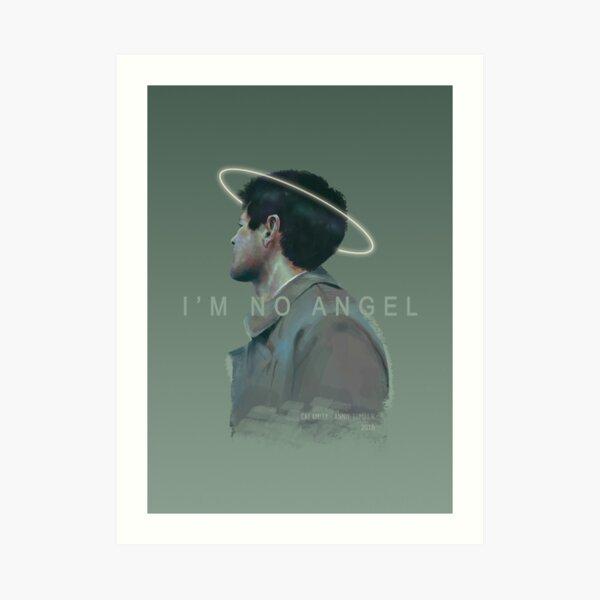 i'm no angel -- words Art Print