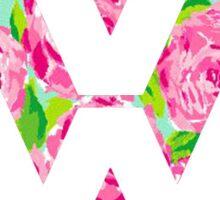 Watercolor Rose Volkswagen VW logo Sticker