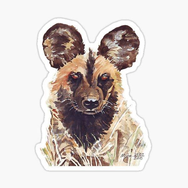 Afrikanischer wilder Hund Sticker