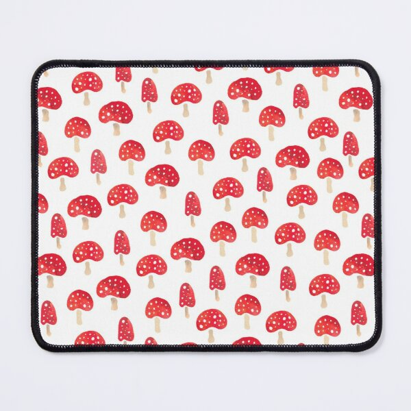 Red and white spotty toadstools pattern Mouse Pad