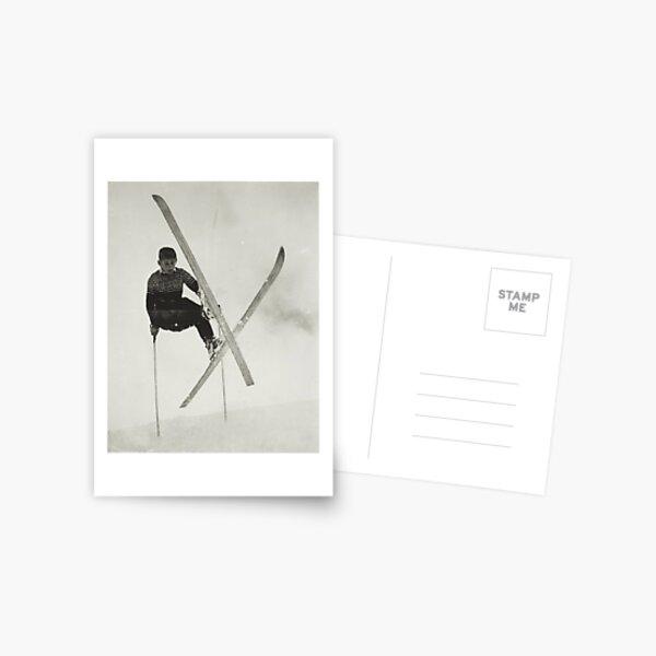 Kid skiing Postcard