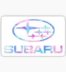 Watercolor Subaru Logo  Sticker