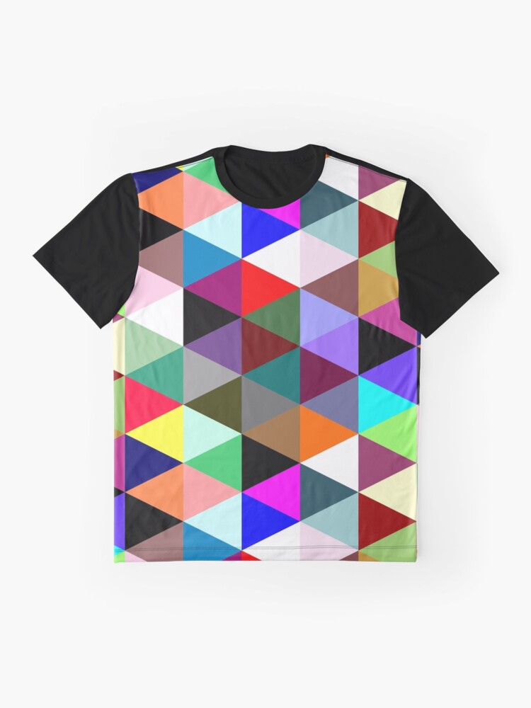 Alternate view of Colorful triangle pattern Graphic T-Shirt