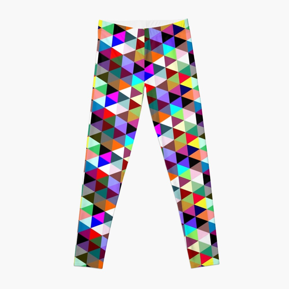 Colorful triangle pattern Leggings