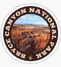 Bryce Canyon National Park circle Sticker