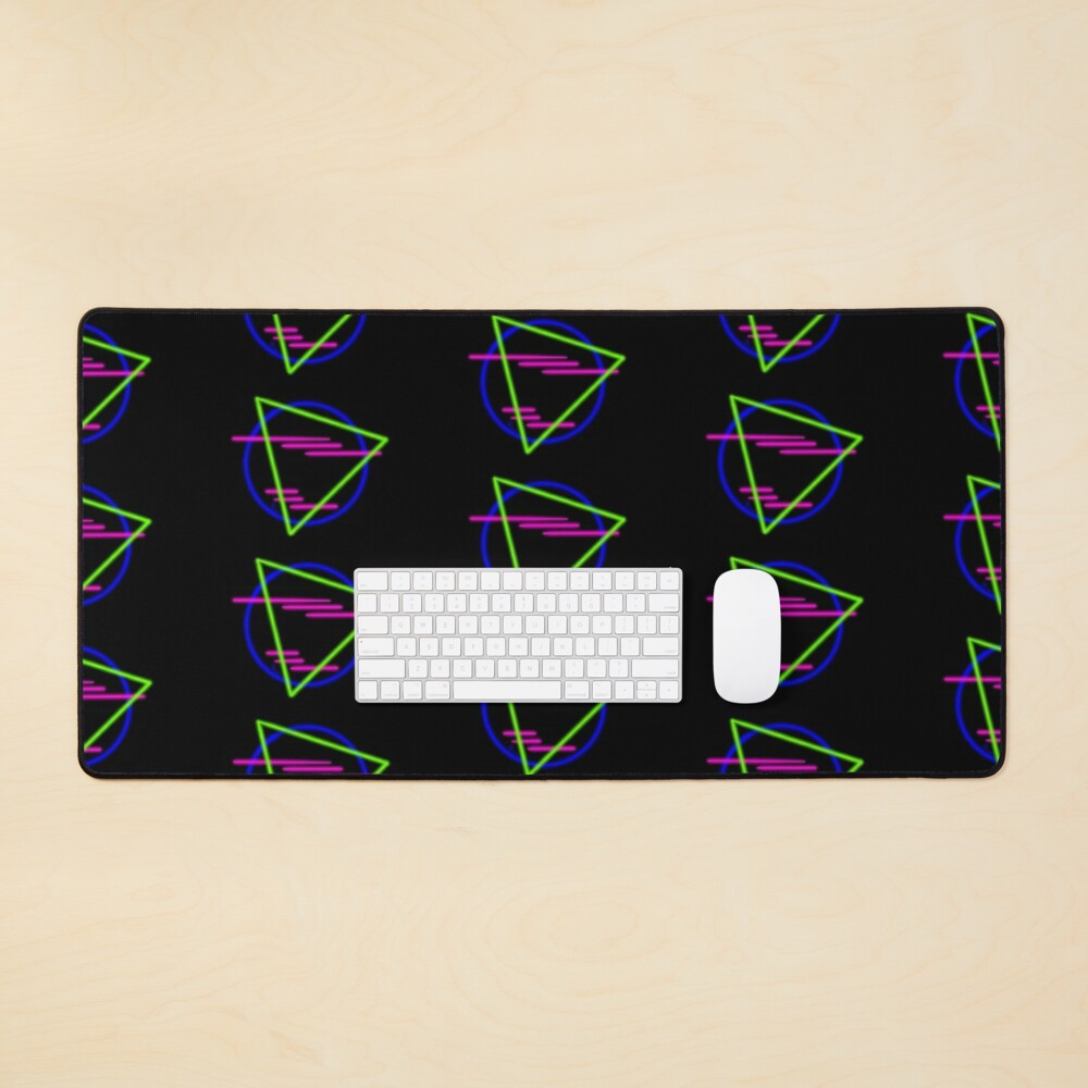 80s Neon Shapes Mouse Pad