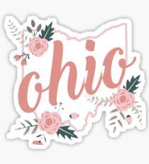 Ohio Floral Sticker