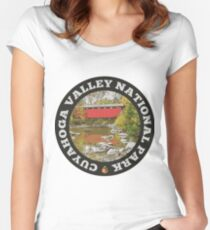 Cuyahoga Valley National Park circle Women's Fitted Scoop T-Shirt