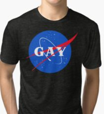 Nasa Gay Pride Logo Tri-blend T-Shirt