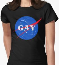 Nasa Gay Pride Logo Women's Fitted T-Shirt