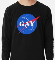 Nasa Gay Pride Logo Lightweight Sweatshirt