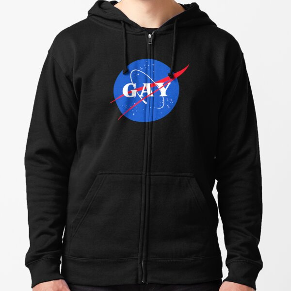 Nasa Gay Pride Logo Zipped Hoodie