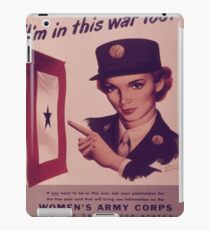 Vintage poster - Women's Army Corps iPad Case/Skin