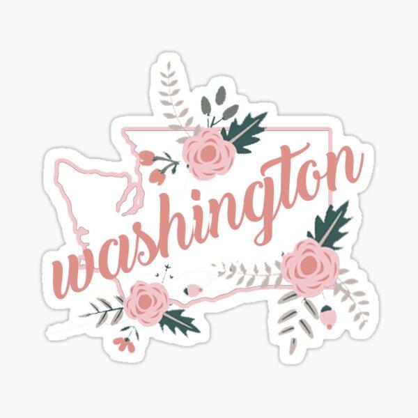 Washington Flowers Sticker