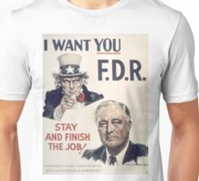 Vintage poster - I Want You FDR Unisex T-Shirt