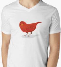 Little Red Bird Men's V-Neck T-Shirt