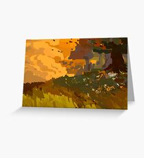 practice landscape Greeting Card