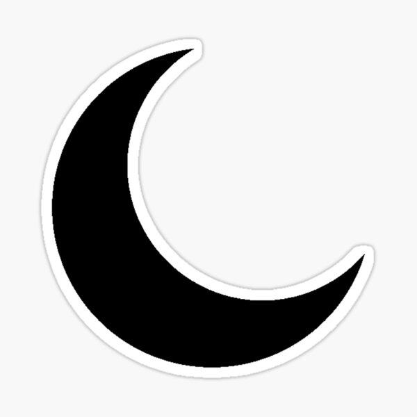 Black Crescent Moon  Sticker