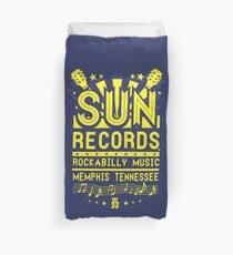 Rockabilly Music From The Sun Duvet Cover
