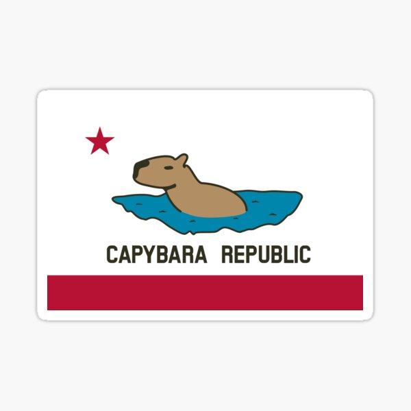 Capybara Flag (Water version) Sticker