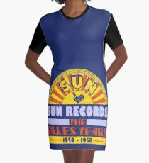 The Sun Blues Years Graphic T-Shirt Dress