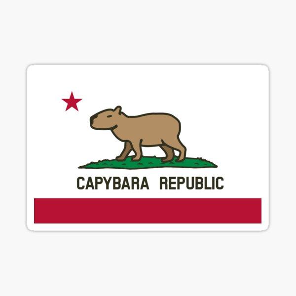 Capybara Flag (normal land version) Sticker