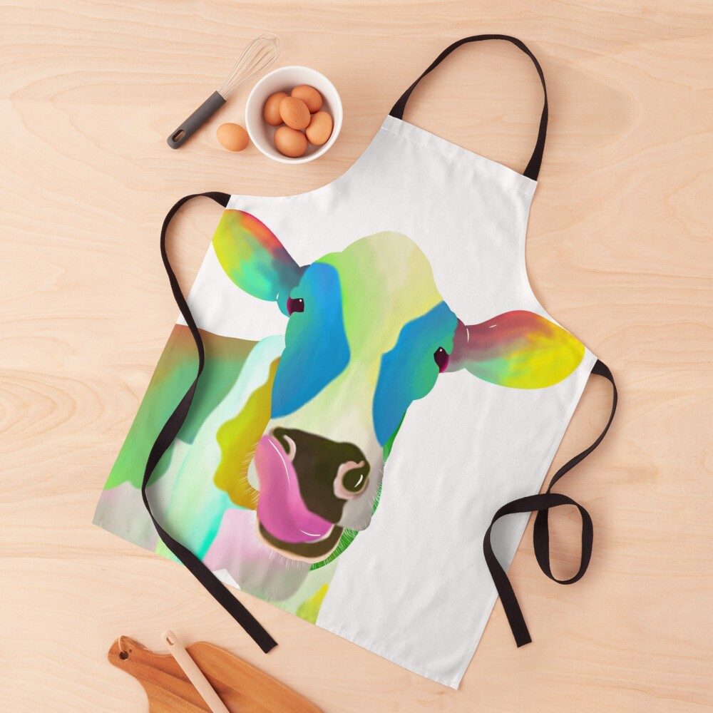 Colorful Cow Apron