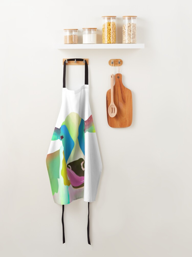 Alternate view of Colorful Cow Apron