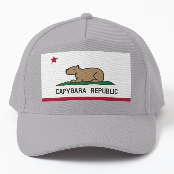 Capybara Flag (relaxed land version) Baseball Cap