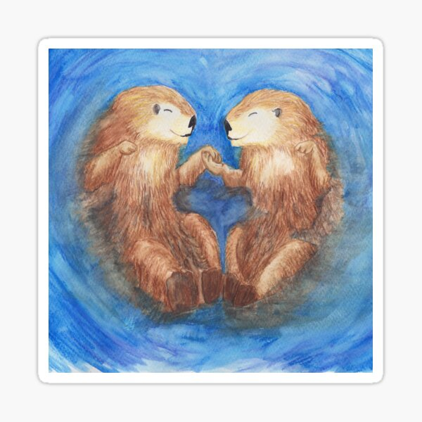 Otterly Cute Sticker