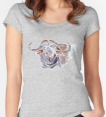 African buffalo or Cape buffalo (Syncerus caffer) Women's Fitted Scoop T-Shirt