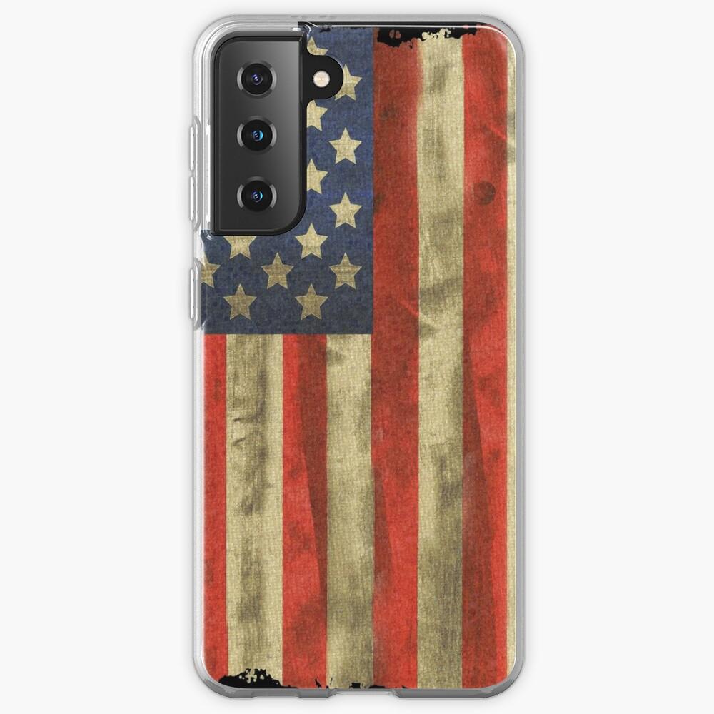 us flag, usa flag, flag, country, 2021, americans day, united states, american, africain,African American Heritage Flag Samsung Galaxy Phone Case