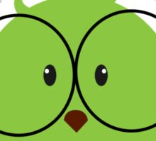 Nerd Bird with glasses Sticker