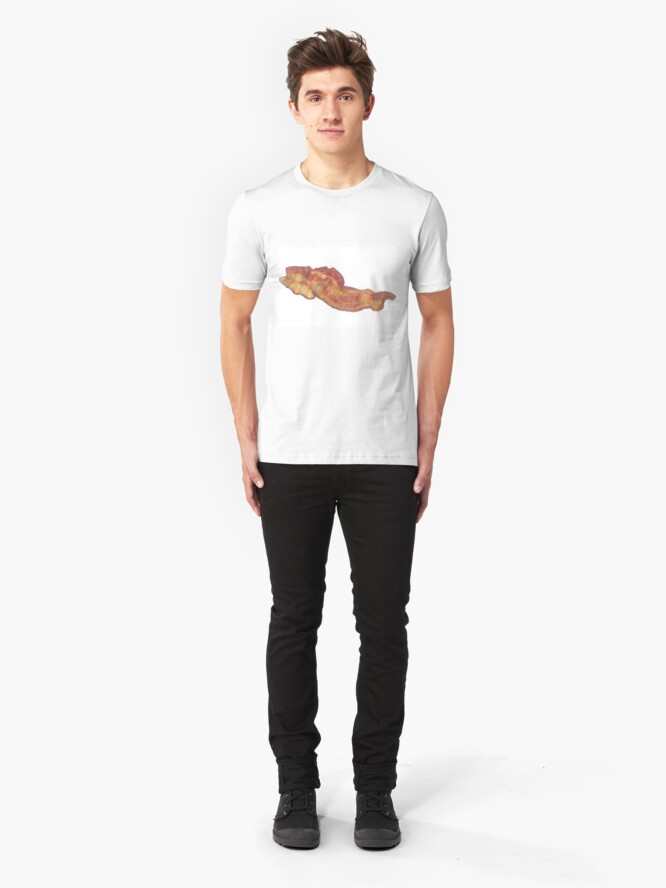Alternate view of Cooked Bacon  Slim Fit T-Shirt