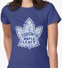 FLORALS- Maple Leafs Womens Fitted T-Shirt