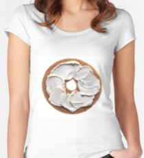 Bagel with Cream Cheese  Women's Fitted Scoop T-Shirt