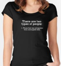 T-shirt Two Kinds of People - Incomplete Data Women's Fitted Scoop T-Shirt