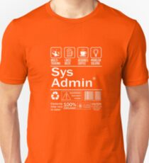 System administrator Funny T Shirt Unix Linux Beer Coffee T-Shirt