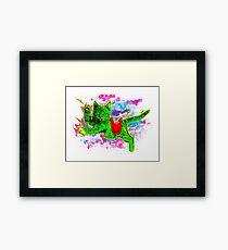 Battle Kitten Framed Print