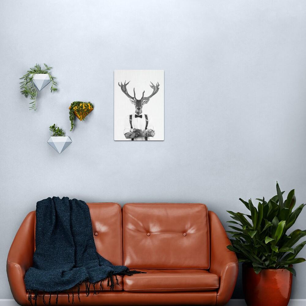Modern Deer Man Metal Print