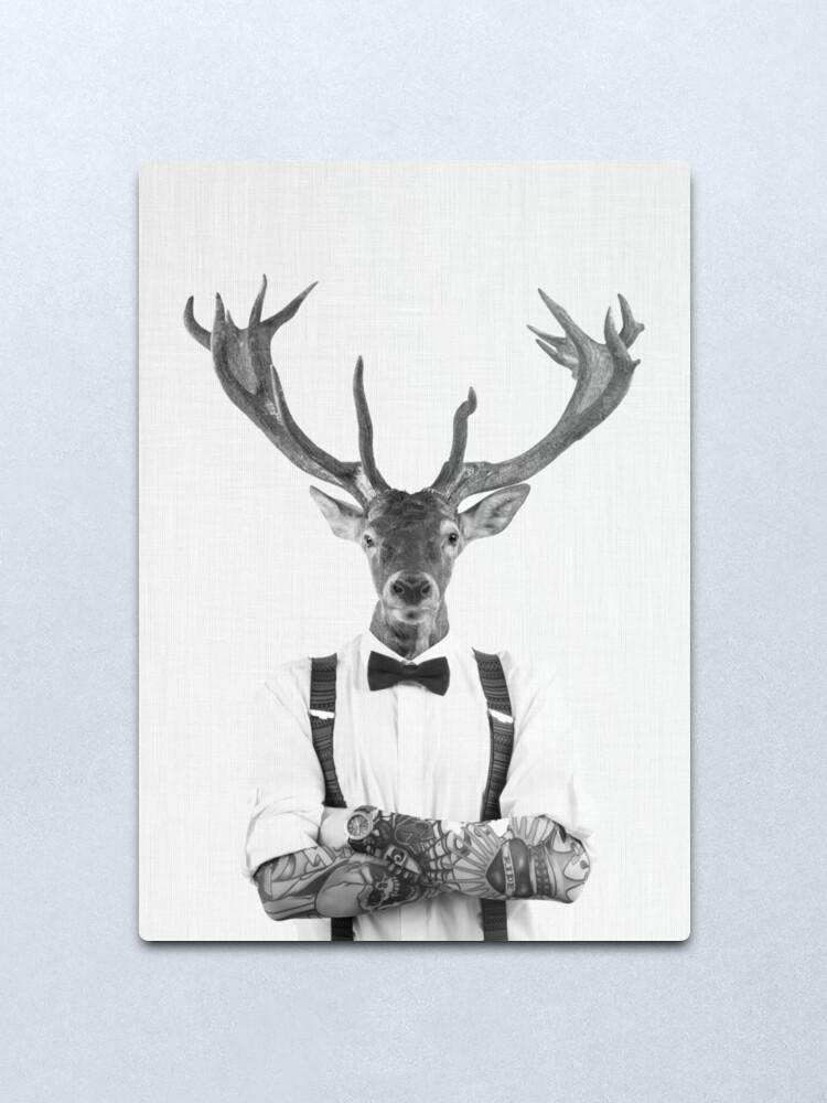 Alternate view of Modern Deer Man Metal Print