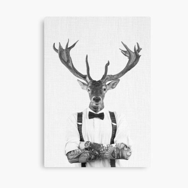 Modern Deer Man Canvas Print